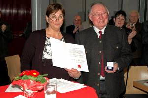 Willy Brandt Medaille für Altbürgermeister Matthias Führler - SPD Neujahrsempfang 2011